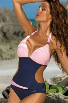 Derékpántos kétszínű trikini - Beatrix Blueberry-Rosa Confetto M-337  rózsaszín tengerészkék 63a8348eab