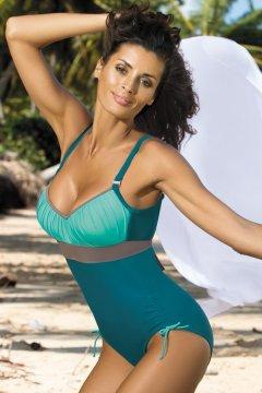 Sportos egyrészes fürdőruha - Whitney Turquoise-Martinicia-Fango M-253  türkiz szürke 34dbb382bc