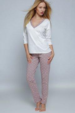 Női pizsama Pam kapucsínó krémszínű  a3b23c18c8