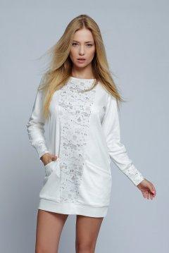 Apró pöttyös pizsama overál Model Nicole ekrü  874380bdaf