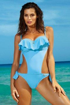 Levehető pántos fodros trikini - Carmen Skipper M-468 égszínkék 8bd1d3cc0d