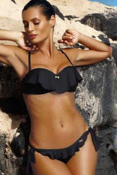 67e9b6a2a0 Fodros, levehető pántos (bandeau) extra push-up brazil bikini - Meredith  Nero