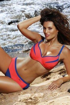 Sportos bikini rafinált szabással - Barbara Oltremare-Coralmania M-473  korall tengerészkék 1746766967