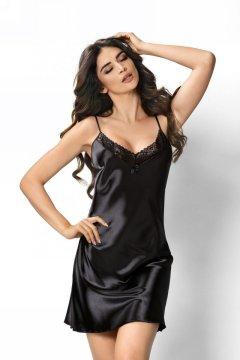 Csipkés szatén hálóing Model Sylvia fekete 90b3fc4646
