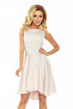 71099f78ef Ujjatlan pöttyös, asszimetrikus ruha 175-1 pasztell rózsaszín