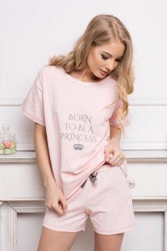 Rövid ujjú pamut pizsama rövidnadrággal Princess rózsaszín 0c95579d80