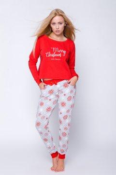 Pingvines rövid női pizsama Penguin piros fehér  9f5fa461e1