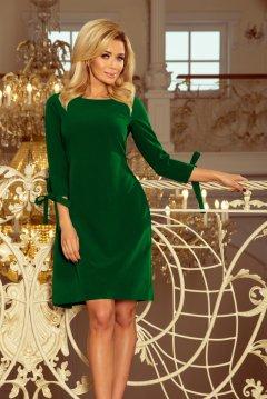 f4a5b346eb Elegáns ruha derekán és ujján masnival Alice 195-7 világos zöld