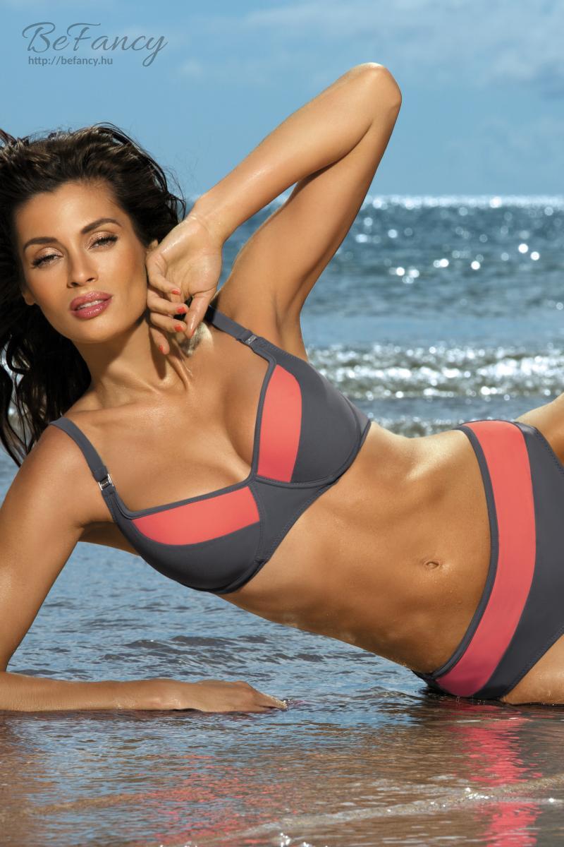 Sportos bikini - Nancy Ardesia-Granatina M-330 szürke korall  bdaa2dfc65