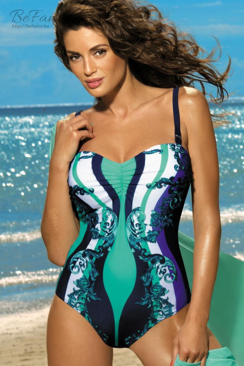 Egyrészes fürdőruha - Miriam Cosmo-Maladive M-329 kék türkiz  21e3f26499