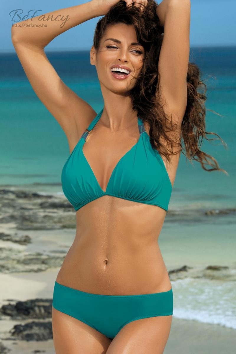 Egyszínű háromszög bikini - Lauren Amalfi M-325 smaragd  1d694bd5b6