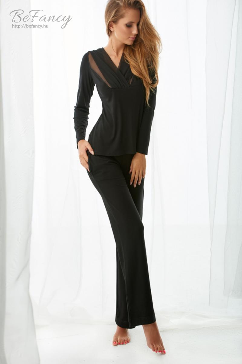 Pizsama Model Florence fekete  3c87031175