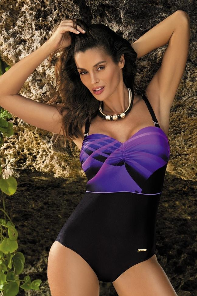 6e053e7f65 Egyrészes fürdőruha Selena Nero-Incanto M-420 fekete/lila | Marko ...
