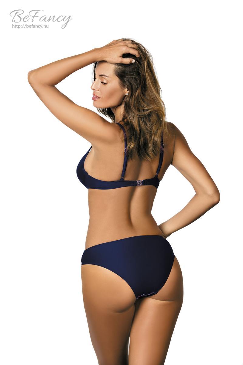 e783d67878 Csavart hatású, kétszínű, virágmintás bikini - Kate Blu Scuro-Milk  Shake-Blu Scuro M-410 rózsaszín/tengerészkék | Marko | Befancy webáruház