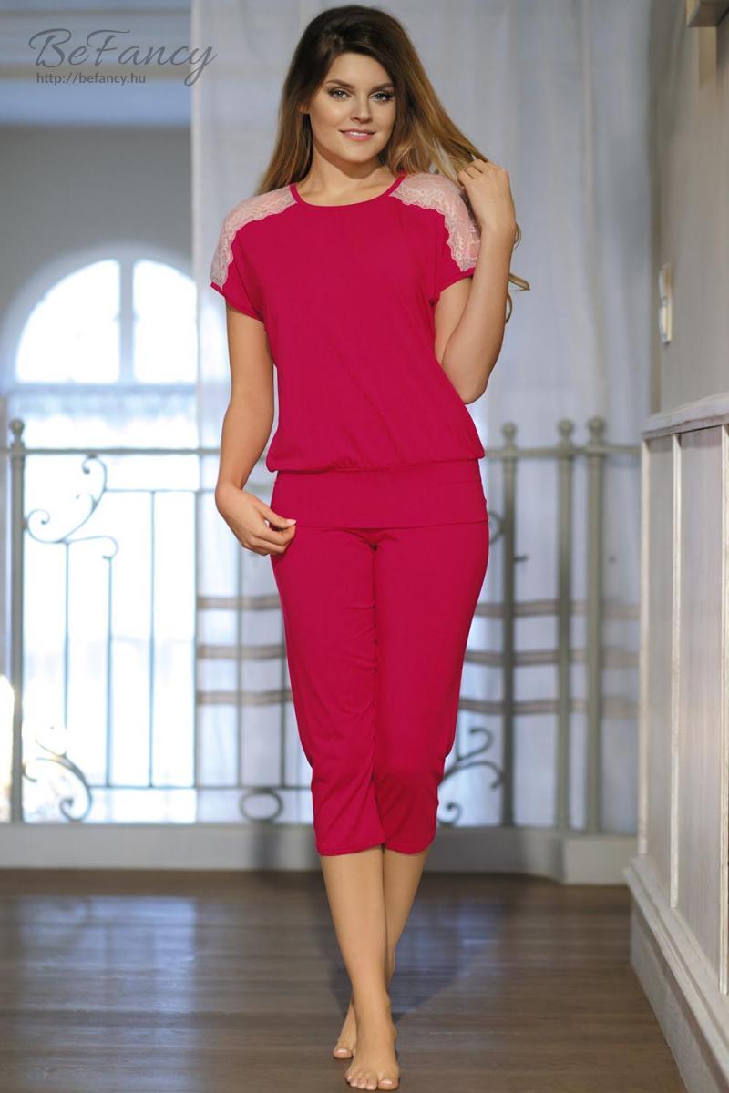 Csipkés pizsama Model Gracja rubin