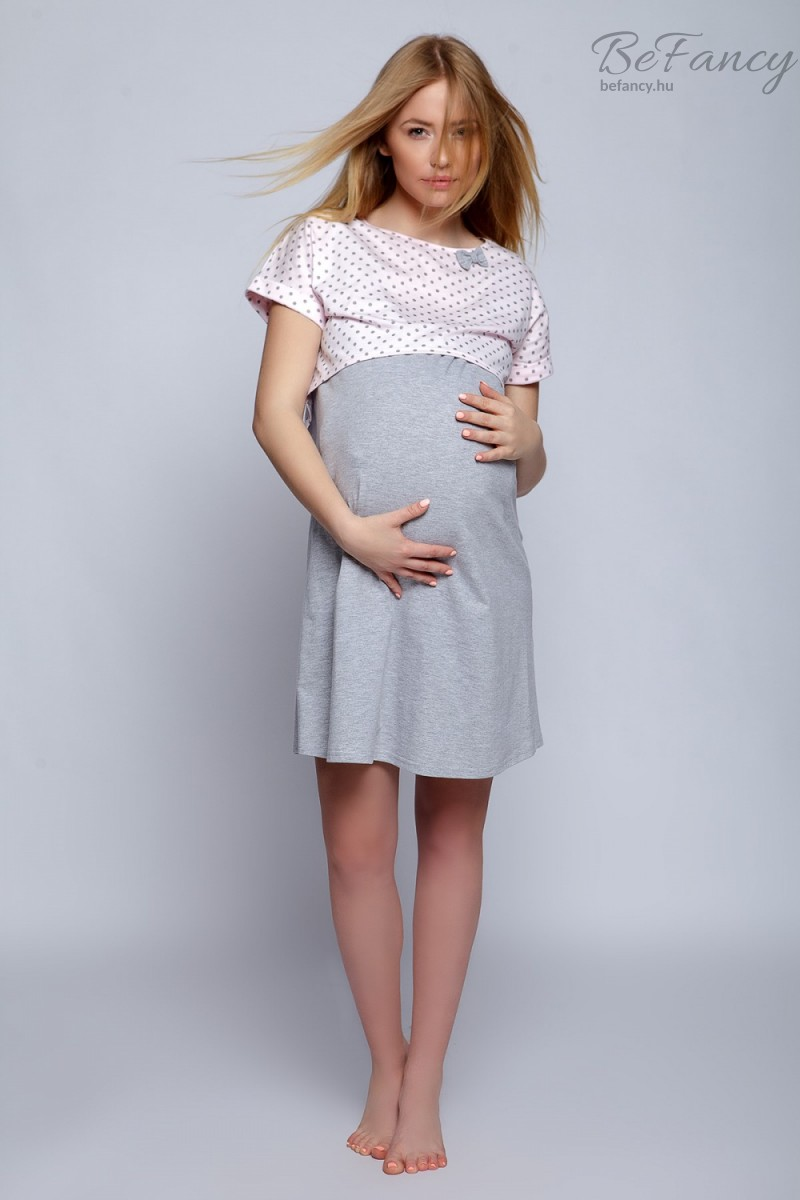 Pöttyös kismama hálóing Model Lili rózsaszín  a6c931a6ec