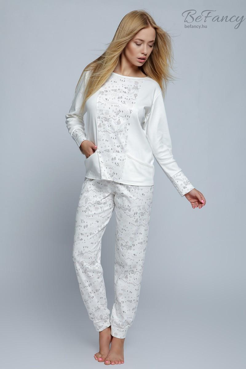 Női pizsama Live ekrü  e792f236fc