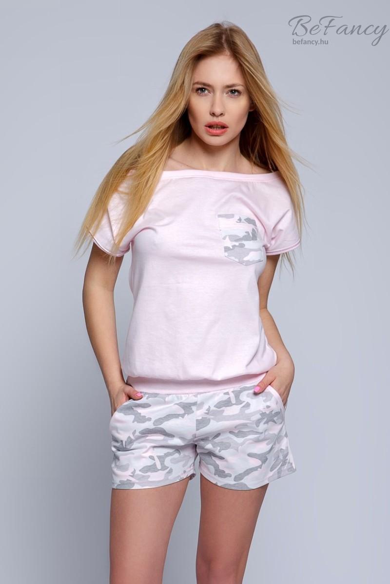 Katonai mintás pizsama overál női Military rózsaszín  06e83ec100