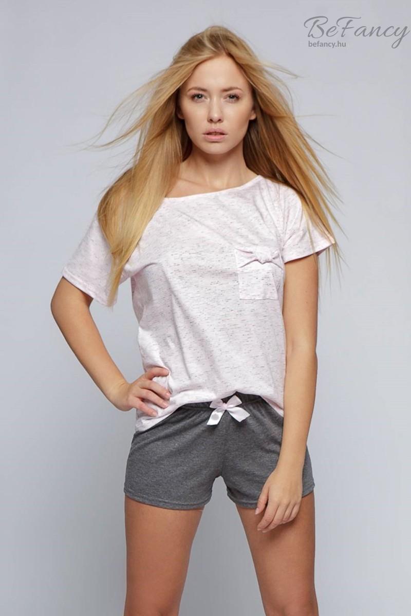 Női pizsama Sofia rózsaszín/szürke