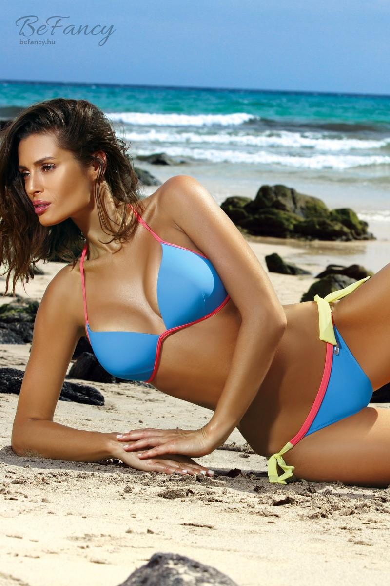 Sportos háromszög bikini - Brooke Surf M-462 kék sárga rózsaszín ... 1d52585568
