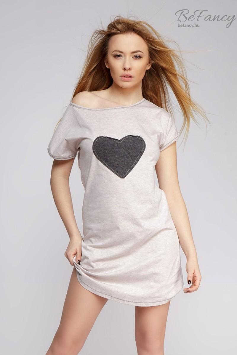 Szíves hálóing Model Love bézs  23a545b83a
