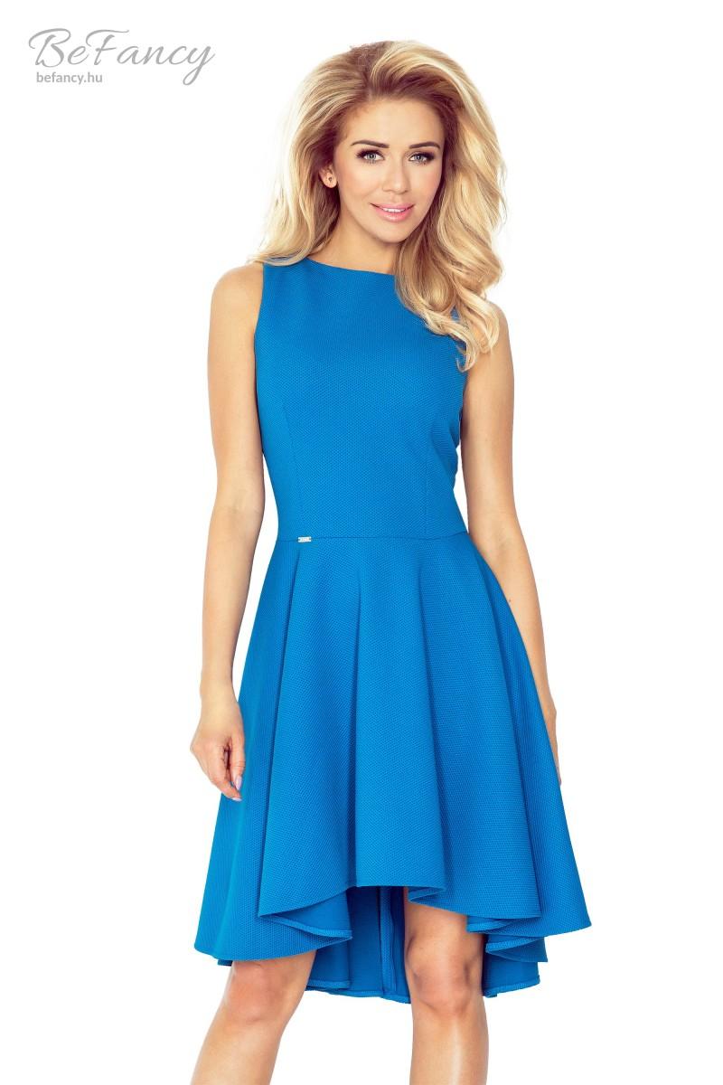 Ujjatlan asszimetrikus koktélruha bő szoknyával 66-14 kék  32995cffd1
