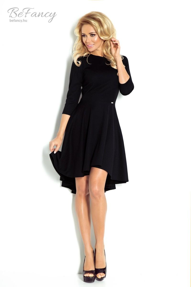 1b8b860bf2 Aszimmetrikus ruha 90-3 fekete   Numoco   Befancy webáruház
