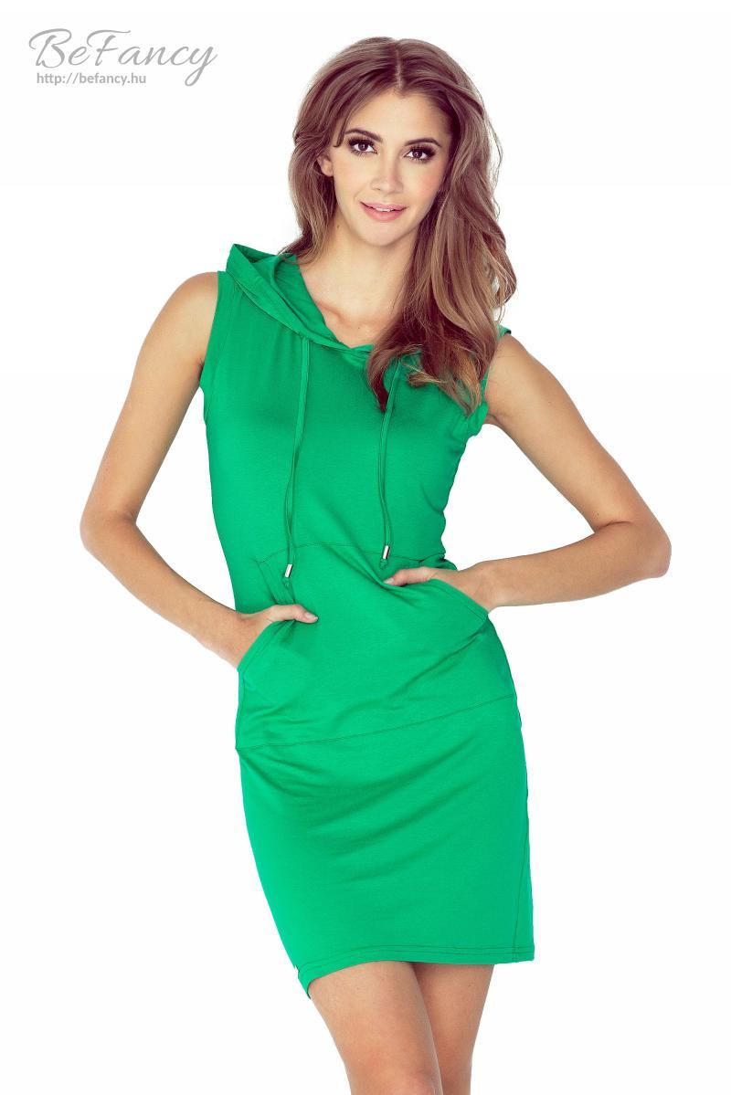 Sportos ujjatlan kapucnis ruha az elején kenguruzsebbel MM 009-4 zöld 349e84191a