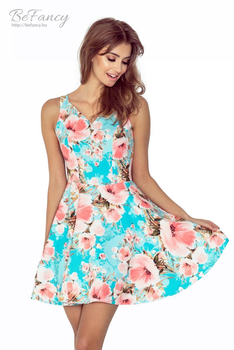 Miniruha bő szoknyával MM 014-1 rózsaszín virágmintás  c382ac0dcb