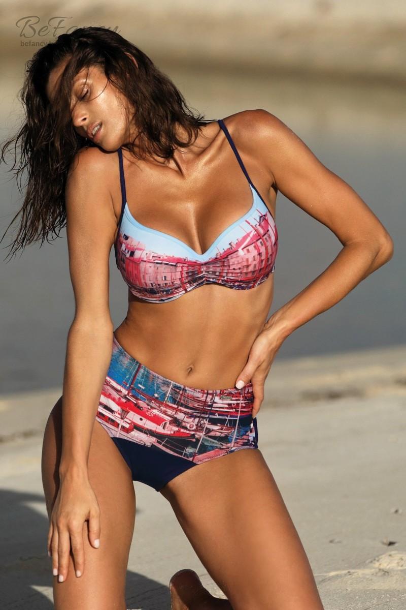 4cd0c0ff30 Városkép mintás magasított derekú push up bikini Marita Cosmo M-514 piros