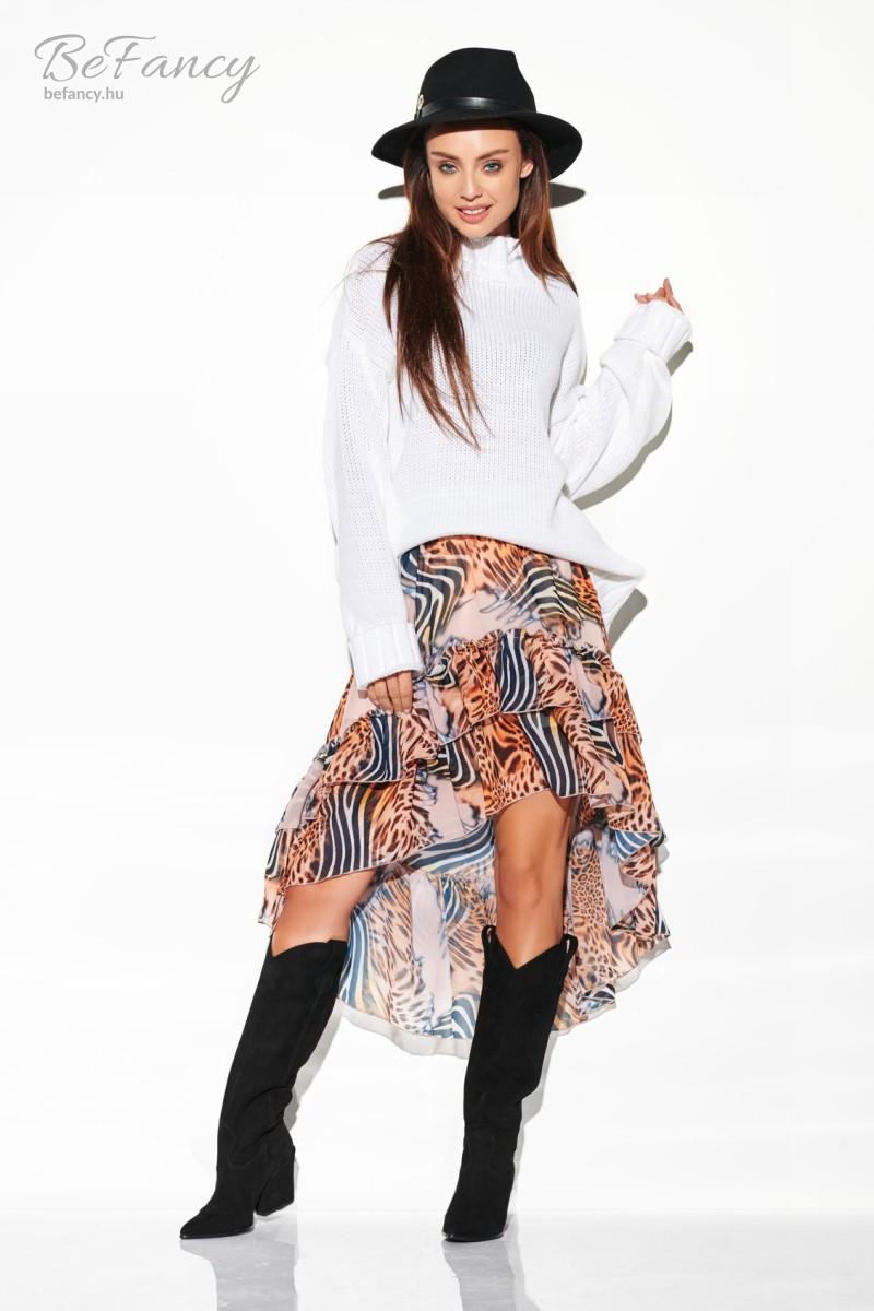Elegáns mintás kötött szoknya és pulóver szett LSG108